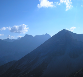 Berge Siloutte